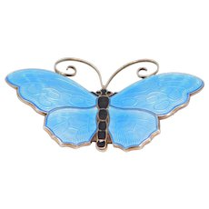 Beautiful Large David Andersen Butterfly Brooch Enamel