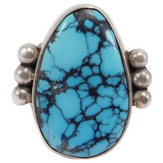 Benny Armijo Navajo Silver Turquoise Ring Special Piece