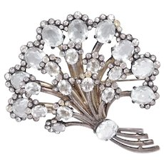 Huge Sterling Eisenberg Original Floral Spray Brooch