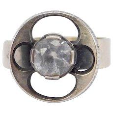 Sten & Laine Turku Finland Crystal Sterling Mod Ring
