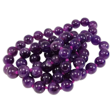 Natural Dark Amethyst Beads 9mm Beautiful Hand Knotted