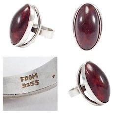 N.e. From Denmark Amber Modernist Large Ring
