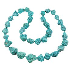 Huge Natural Turquoise Nugget Necklace 312 Grams