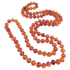 Antique Baltic Amber Natural Beads 10mm Polished Round 72 GRAMS