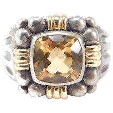 Samuel B. Behnam 18k And Silver Designer Citrine Ring