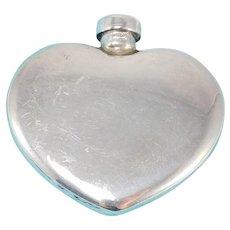 Tiffany & Co. Sterling Heart Shaped Perfume Bottle