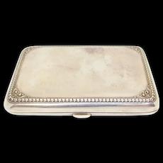 F&B Sterling Victorian Repousse Cigarette Case Box