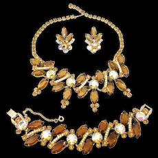 Juliana Parure Necklace Bracelet Earrings Aurora