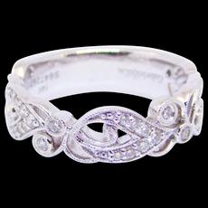 Estate Designer 14k Elegant Diamonds Half Eternity Band