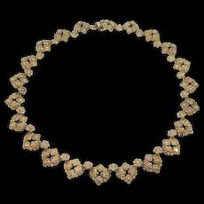 Vintage Sterling Judith Jack Marcasite Necklace