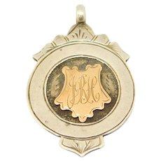 Birmingham 1911 Victorian Silver Fob Medal Rose Gold