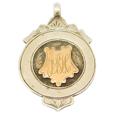 Birmingham 1911 Victorian Silver Fob Medal Rose Gold