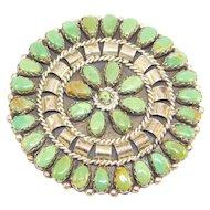 Vintage Navajo Turquoise Petit Point Brooch Mathilda Benally