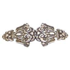 Art Nouveau Repousse Ornate Belt Buckle Beautiful