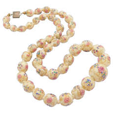 Beautiful Antique Wedding Cake Venetian Glass Beads