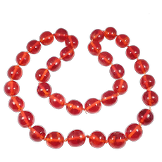 Antique Cherry Amber Lucite Beads Knotted Chinese