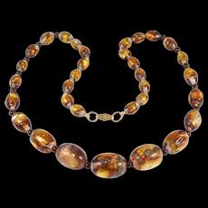 Opalescent Foil Beads Art Deco Czech Glass