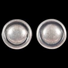 Modernist Hans Hansen Denmark Earrings 925s