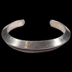Navajo Silver Carinated Cuff Bracelet Heavy