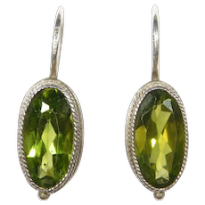 Sterling Leverback Peridot Earrings Beautiful