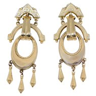 Ornate Victorian Drop Earrings G.F. With 14k Screwbacks