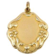 Victorian Floral Gold Filled Locket Ornate Lovely