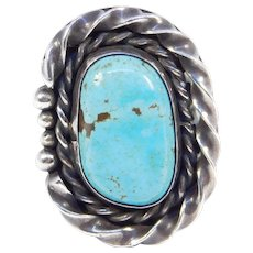 Sterling Silver Turquoise Southwest Ring Great Color