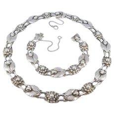 Sterling Art Deco Jensen Design Necklace Bracelet Set