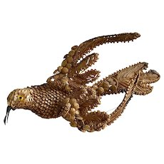 Antique Decorative Straw Bird French Folk Art