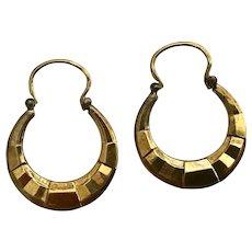 Art Deco Modernist Gold Plated Earrings