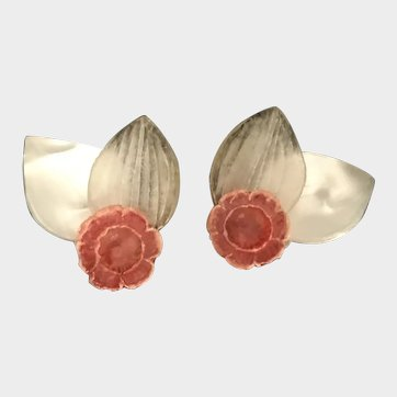 Monique VEDIE Talosel Floral Earrings Free Shipping