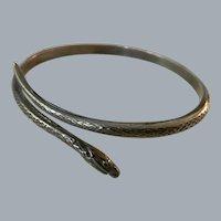Art Nouveau Silver Snake Bracelet Free Shipping