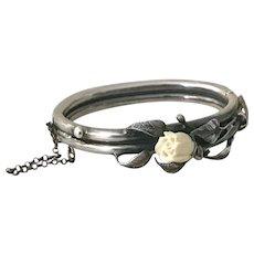 Art Deco Silver Bracelet Stamped