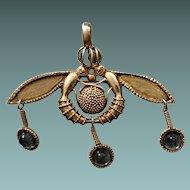 Art Nouveau Vermeil Mix Pendant And Brooch