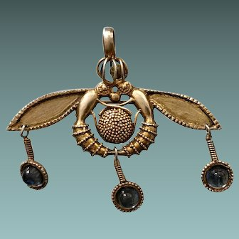 Art Nouveau Vermeil Mix Pendant And Brooch