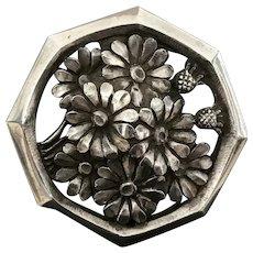 Art Deco Silver Brooch Signed R. SITOLEUF