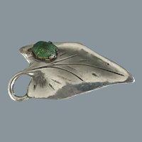 Art Nouveau Pewter True Scarab Garnet Brooch Free Shipping