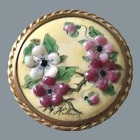 Vintage Enamel Floral Brooch Free Shipping