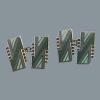 Art Deco Modernist Enamel Cufflinks Free Shipping