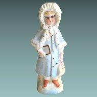 Antique Victorian French All Bisque Figurine