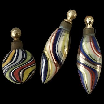 Antique Murano Small Perfume Bottles