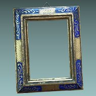 Antique Small Gilded Wood Frame Hand Paint French Circa 1900