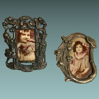 Art Nouveau Silver Plate Photo Frame