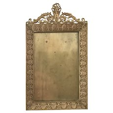 Antique Bronze Picture Frame Easel Stand Free Shipping