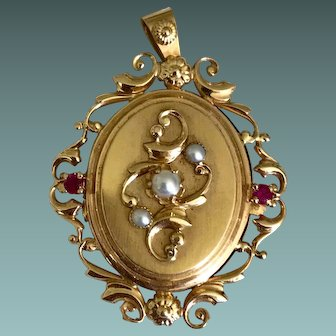 Napoleon III 18k Yellow Gold Pendant Locket