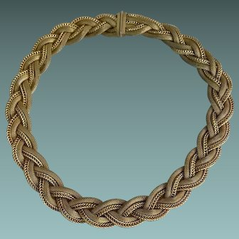 Grosse Gold Plate High Fashion Necklace Circa 1963