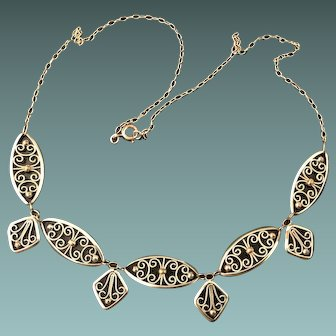 Art Deco Gold Plated Necklace 1920's jewelry