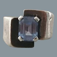 Art Deco Modernist Sterling Ring Free Shipping