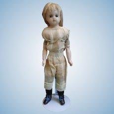 "14"" Reinforced Wax Doll Ready to Dress"