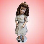 23 Inch German Bisque Doll by Heinrich Handwerck